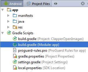Android build gradle file