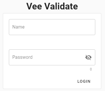 VeeValidate validate Vue.js login form using custom rule